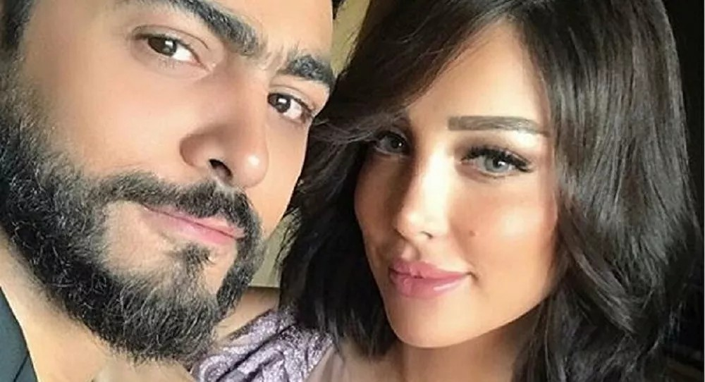 حقيقة زواج تامر حسني سرا بعد انفصاله عن بسمة بوسيل